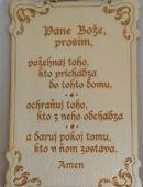Nápisy na dreve - Pane Bože, prosím