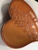 Keramika  - svietnik srdce malé